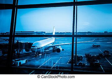 Parked aircraft