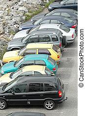 Cars parked on a parkinglot