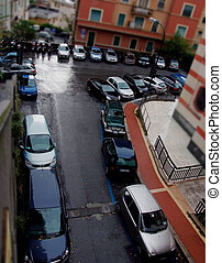 parked cars on small street