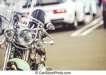 Parked Classic Motorcycle