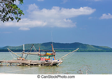 Parked fisherman ship