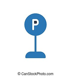 parked  glyph color icon