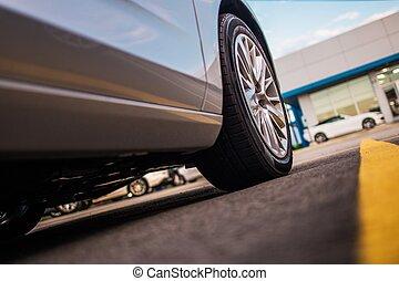 Parked Modern Car Closeup