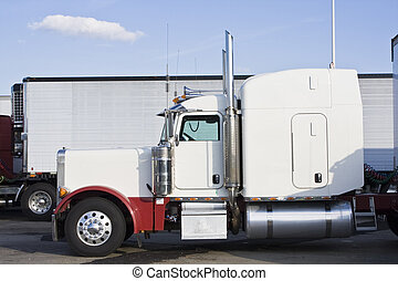Parked Semi-truck