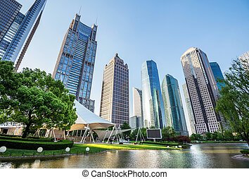 parken, en, moderne architectuur