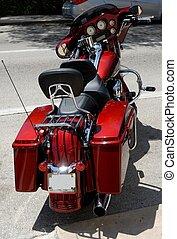 parkerad, motorcykel
