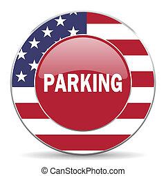 parkering, amerikansk ikon