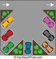 parkering, för, bilar
