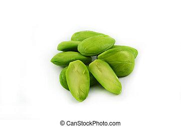 parkia speciosa seeds isolated bitter bean