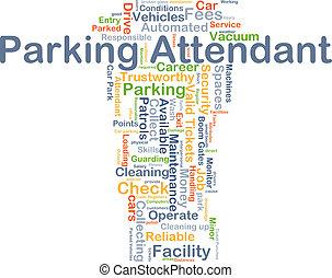 Parking attendant background concept - Background concept...