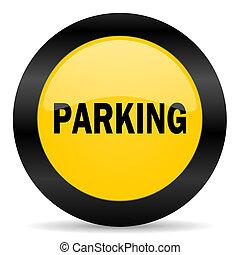 parking black yellow web icon