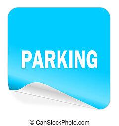 parking blue sticker icon