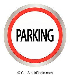 parking circle glossy web icon