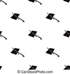 Parking fine icon in black style isolated on white background. Parking zone symbol stock vector illustration.