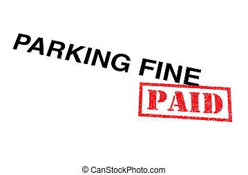 Parking Fine Paid