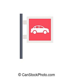 parking  flat color icon