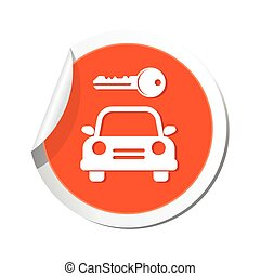 Parking for car icon