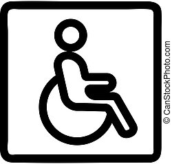 Parking for the disabled icon vector. Isolated contour symbol illustration