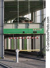 Parking garage gate
