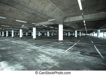 Parking garage of shopping center