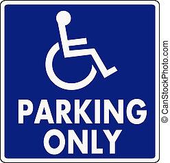 parking handicapé, signe