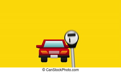 Parking icon design, Video Animation HD1080