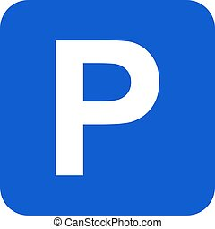 Parking icon graphic design isolated on white background. Vector illustration