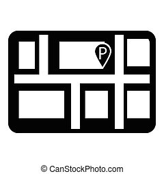 Parking icon , simple style
