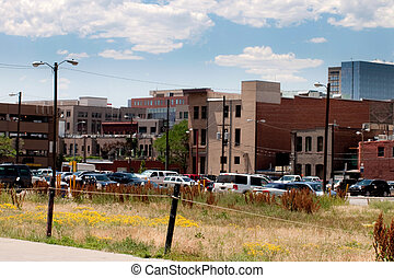 Parking in downtown Denver, Colorado.