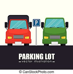 parking lot cars graphic
