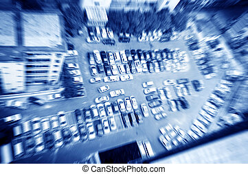 Parking lot - Crowded parking lot in downtown