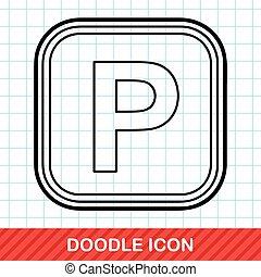 Parking lot doodle