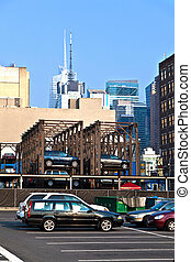 parking lot downtown New York
