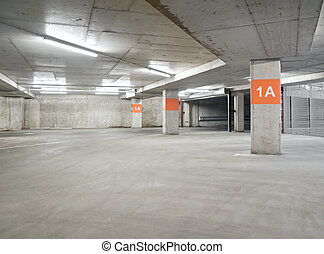 Empty parking lot area, can be used as urban background