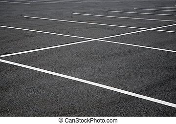 Parking lot - empty parking lot spaces