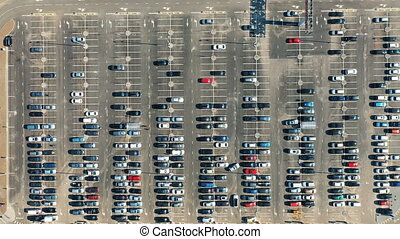 Parking lot from above - Bird's-eye view of the parking lot...