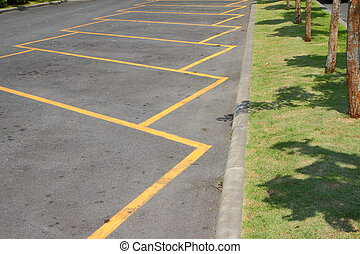 parking lot in puplic park.