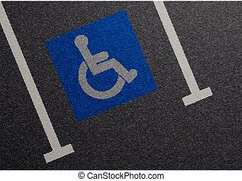 Parking Lot Reserved - detailed illustration of a blue...