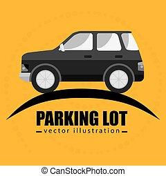 parking lot symbol notice vector illustration design