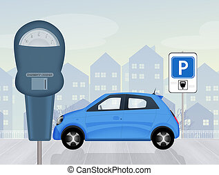 Parking meter - illustration of Parking meter