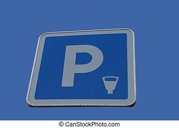 parking meter sign
