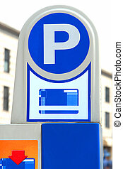 Parking meter on the street
