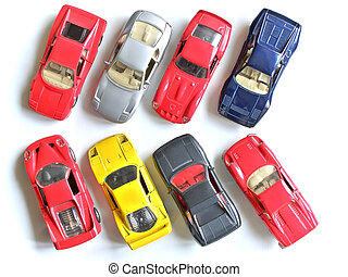 parking of small model cars