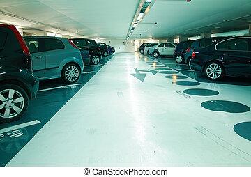 Parking in the parking garage