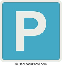 Parking place icon, flat style.
