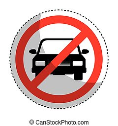Parking prohibited sign isolated icon