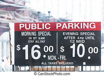 Parking public rates