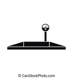 Parking scales icon, simple style