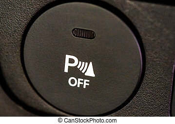 Parking sensor system in modern car close