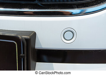 Parking sensors on a car
